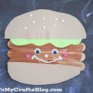 Popsicle Stick Hamburger Friends - Kid Craft