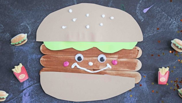 Popsicle Stick Hamburger Friends – Kid Craft