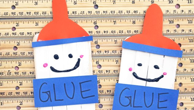 Popsicle Stick Glue Bottle Friends - Kid Craft