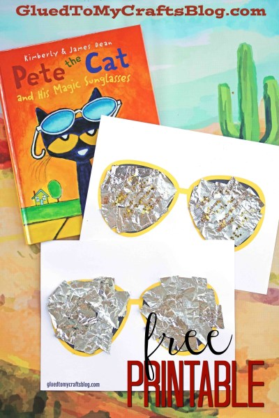 Pete The Cat Sunglasses Kid Craft - Free Printable