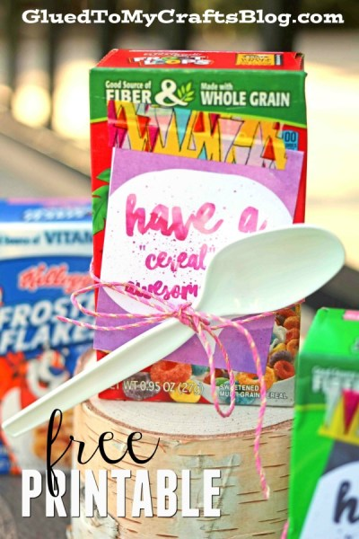 """""""Cereal-sly"""" Awesome Day - Free Gift Tag Printable"""