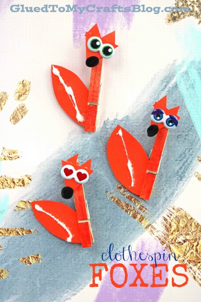 Clothespin Fox - Kid Craft