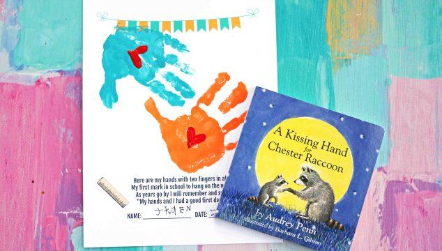 Handprint Back-To-School Keepsake Printable