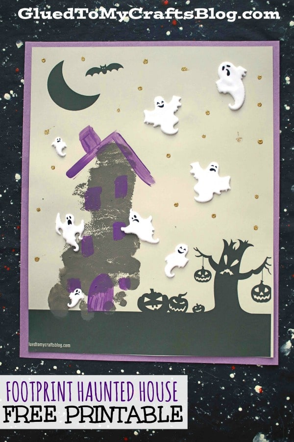 Footprint Haunted House Keepsake - Free Printable