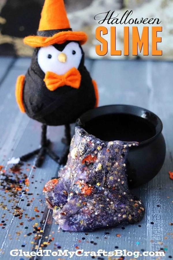 The Easiest Halloween Slime Recipe Ever!