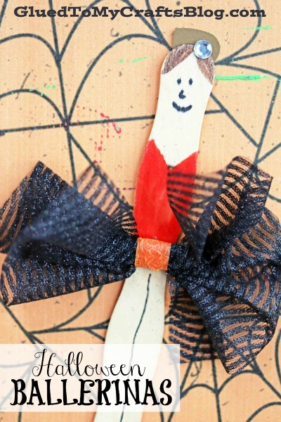 Craft Stick Halloween Ballerinas - Kid Craft