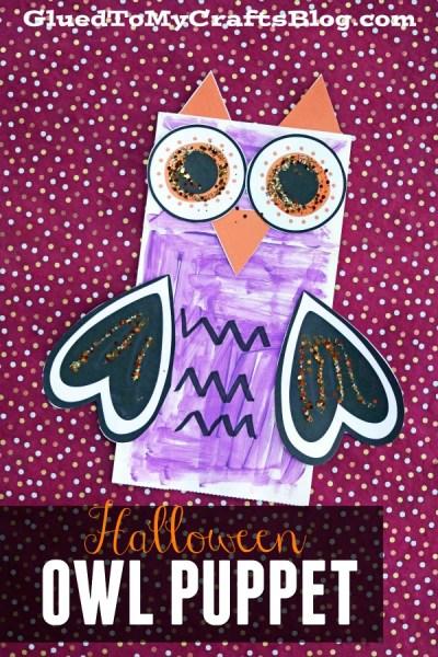 Paper Bag Halloween Owl - Free Printable