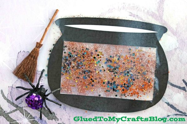Stained Glass Witch Cauldron - Free Template