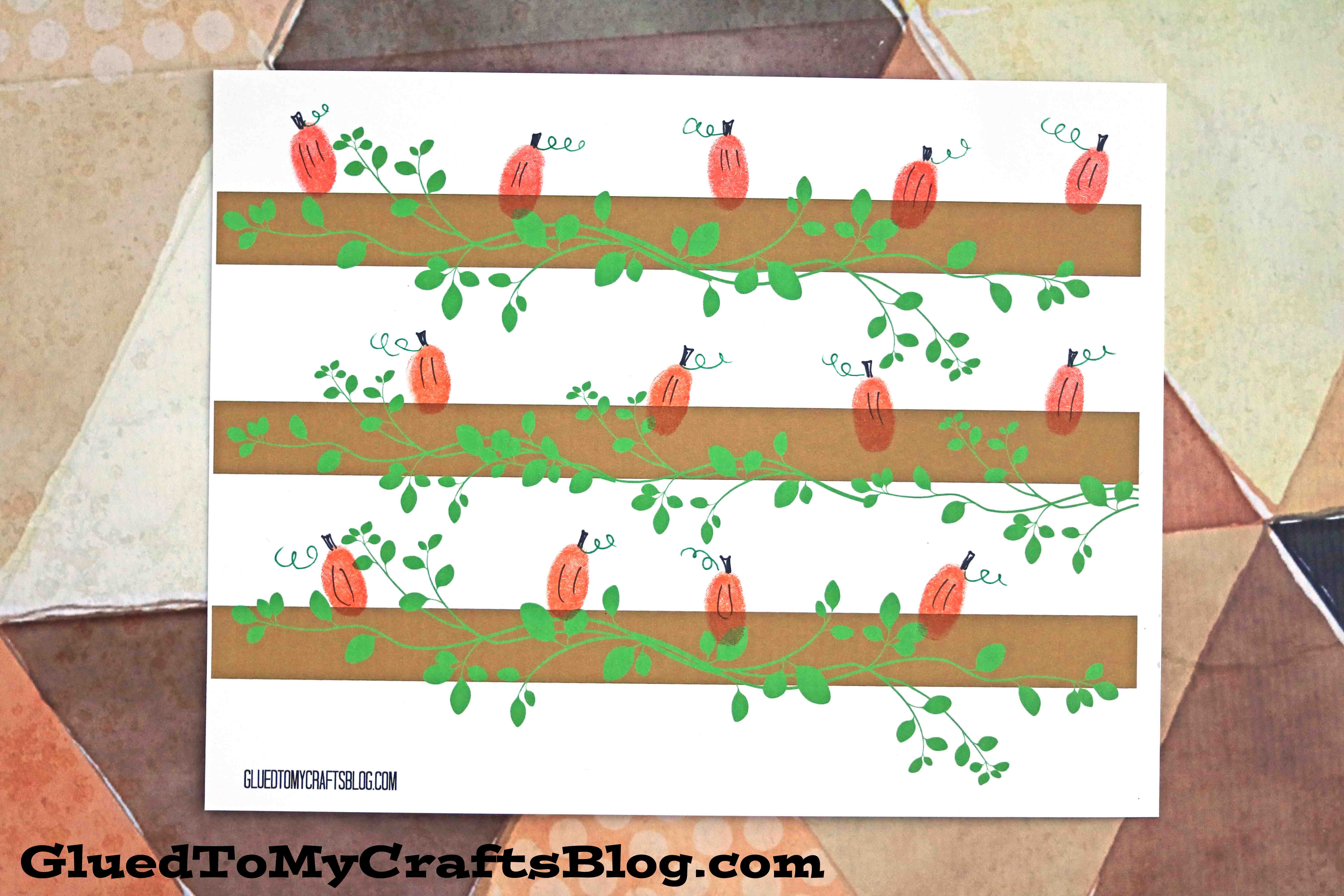 thumbprint pumpkin patch free template glued to my crafts. Black Bedroom Furniture Sets. Home Design Ideas
