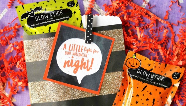 Halloween Glow Sticks – Gift Tag Printable