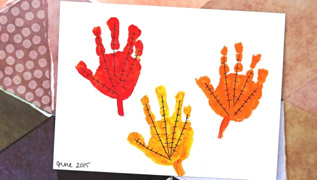 The Simplest Handprint Leaves Keepsake