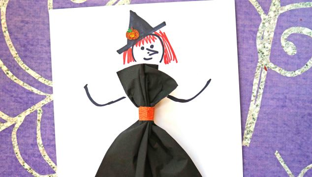 Paper Napkin Witch – Kid Craft