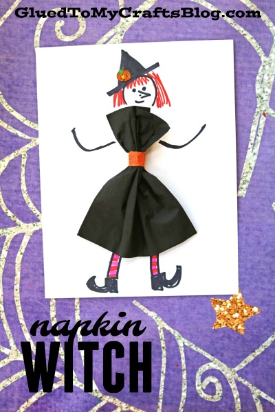 Paper Napkin Witch - Kid Craft