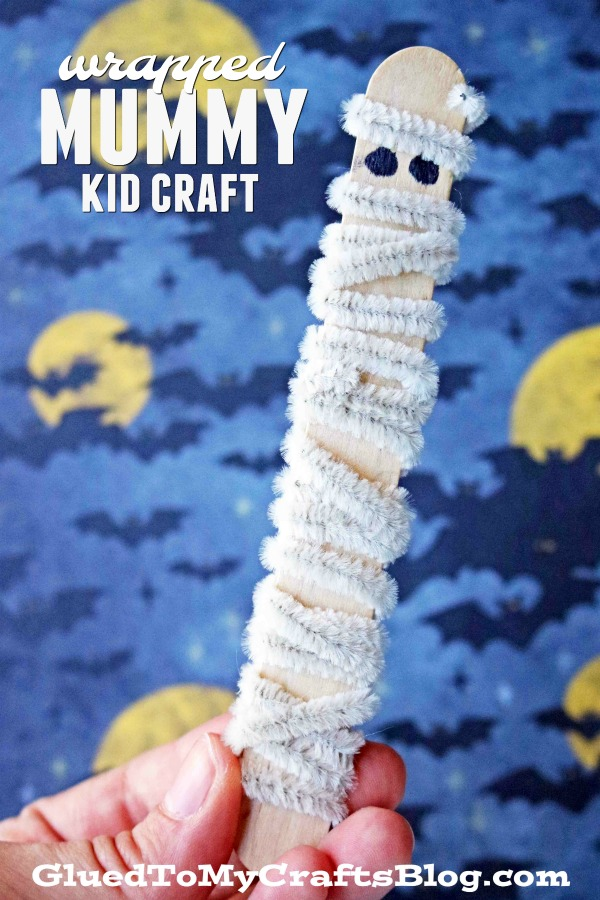 Pipe Cleaner Wrapped Mummy - Kid Craft
