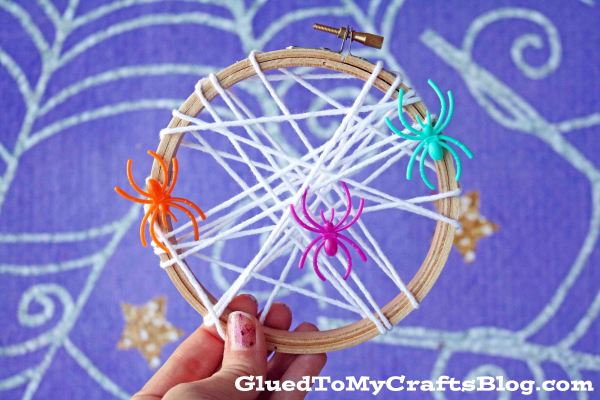 Spider Web Embroidery Hoop Decor