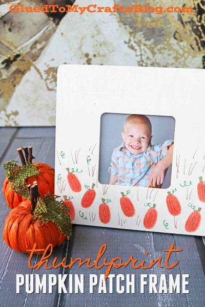 Thumbprint Pumpkin Patch Frame