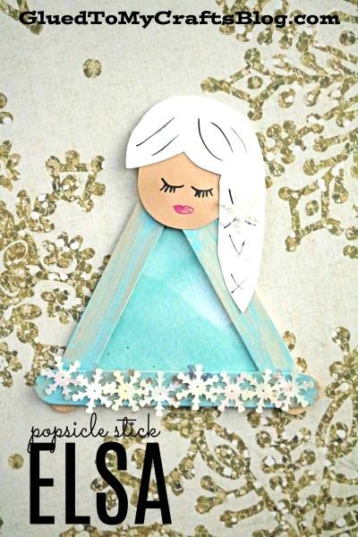 Popsicle Stick Elsa- Kid Craft