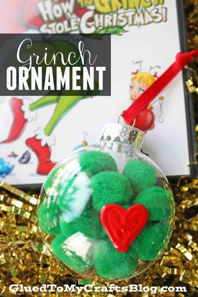 Grinch Inspired Pom Pom Ornament