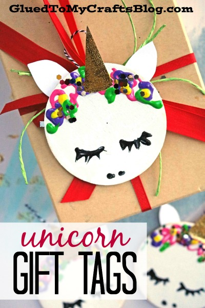 Wooden Circle Unicorn Gift Tags