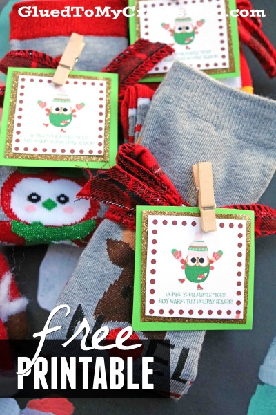 "Mistle ""Toes"" Gift Tag Printable"