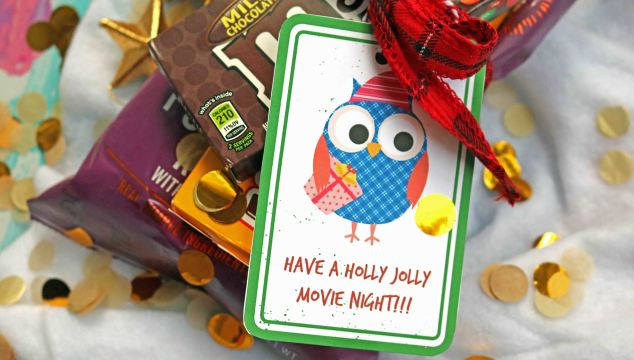 Have A Holly Jolly Movie Night – Gift Tag Printable