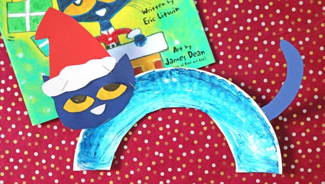Paper Plate Santa Cat – Kid Craft