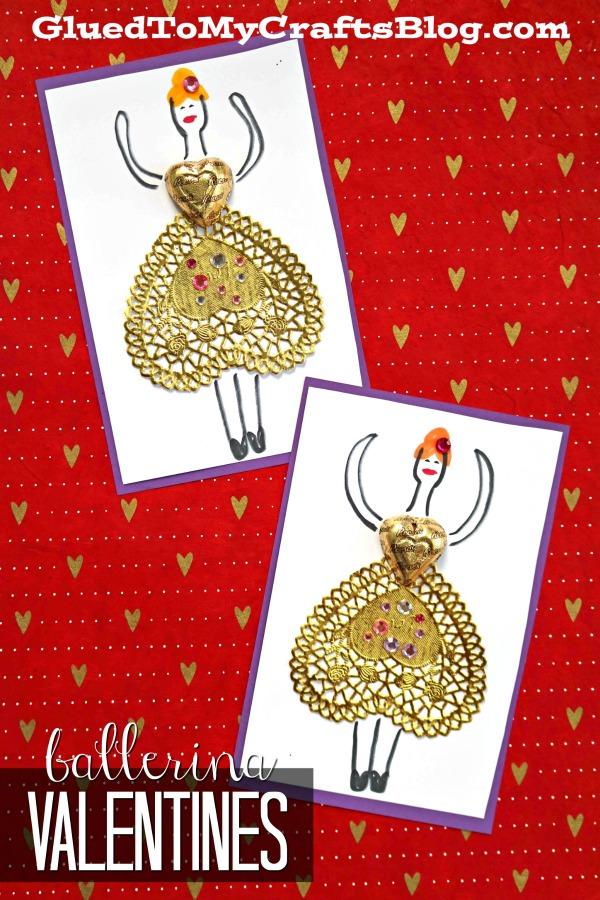 Paper Doily Ballerina Valentines w/chocolate surprise