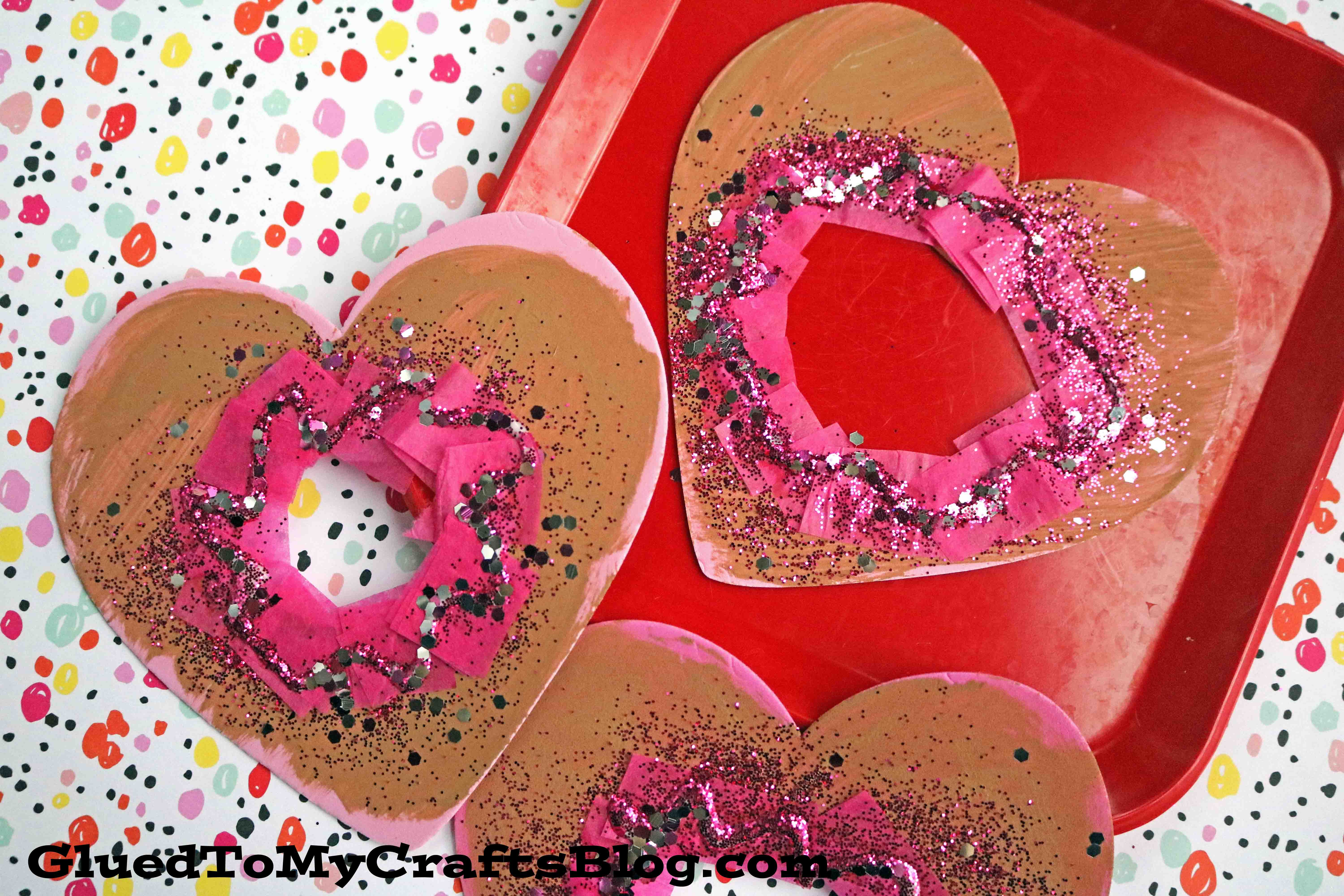 Craft Foam Valentine Heart Donuts   Kid Craft