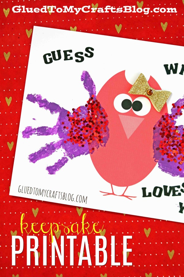 photograph regarding Free Owl Printable Template known as Handprint Valentine Owl - Free of charge Printable Template