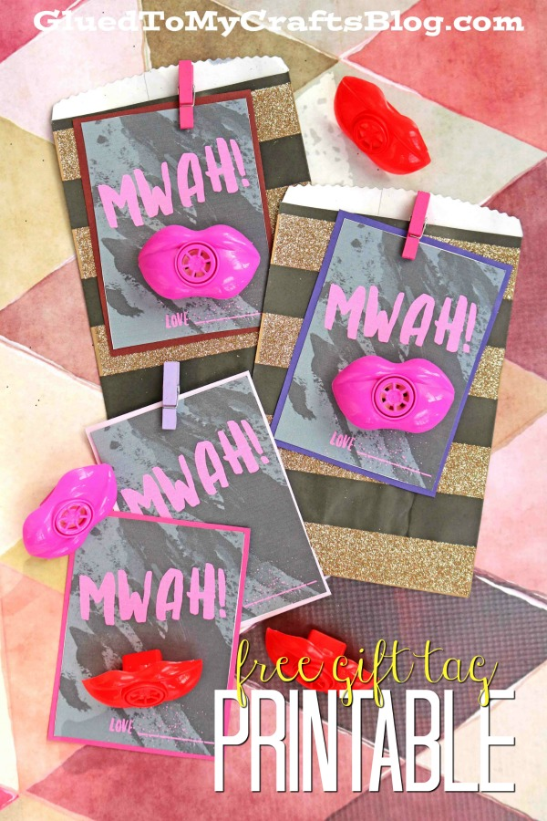 MWAH! Valentine's Day Gift Tag Printable