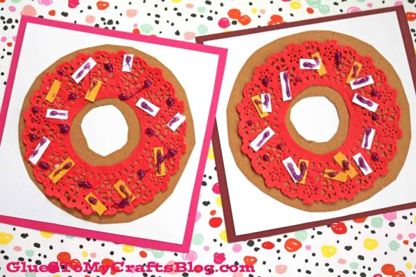 Paper Doily Donut Card - DIY Craft