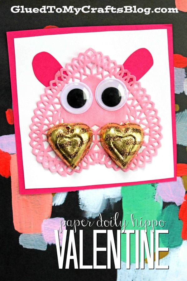 Paper Doily Hippo Valentines
