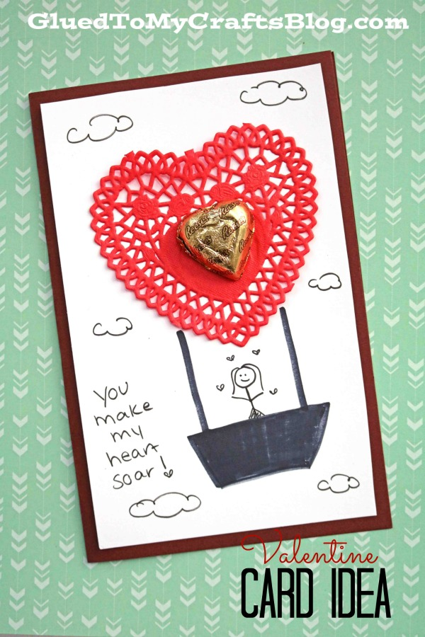 Impressive Paper Doily Hot Air Balloon Valentine Card