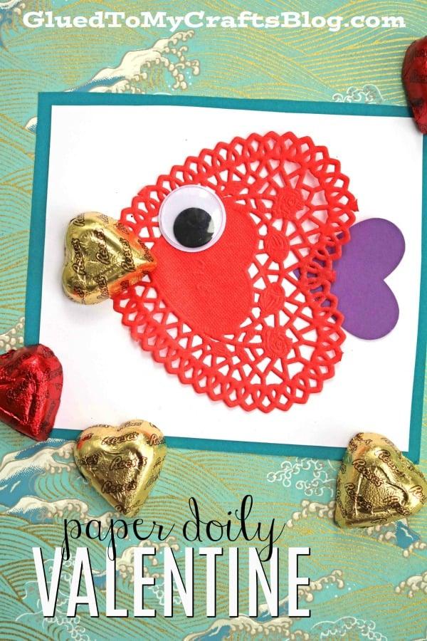 Paper Doily Fish Valentines