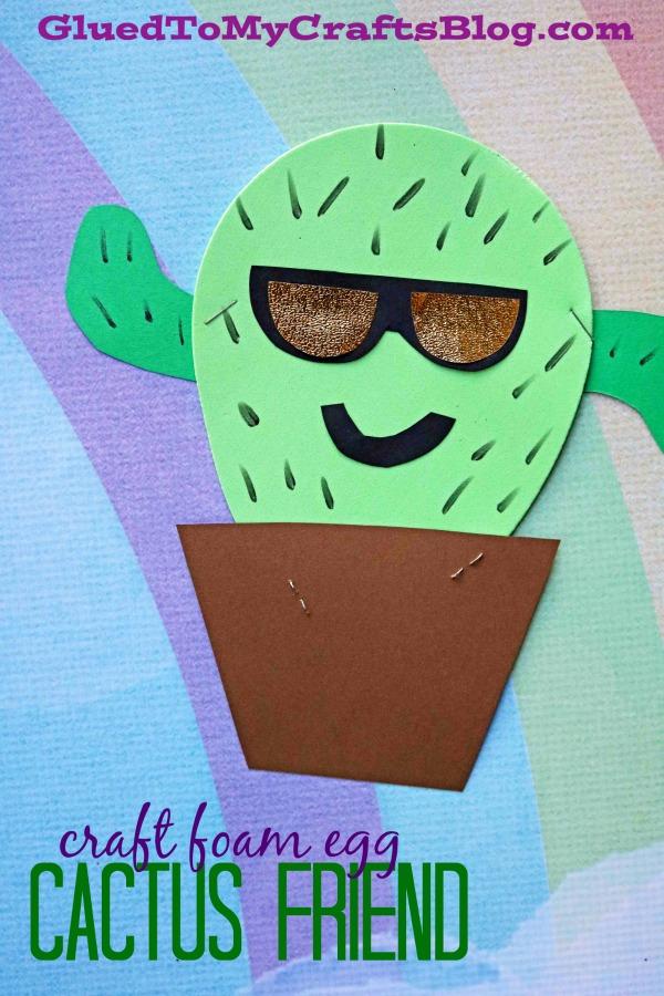 Craft Foam Egg Shape Turned Cactus - Kid Craft