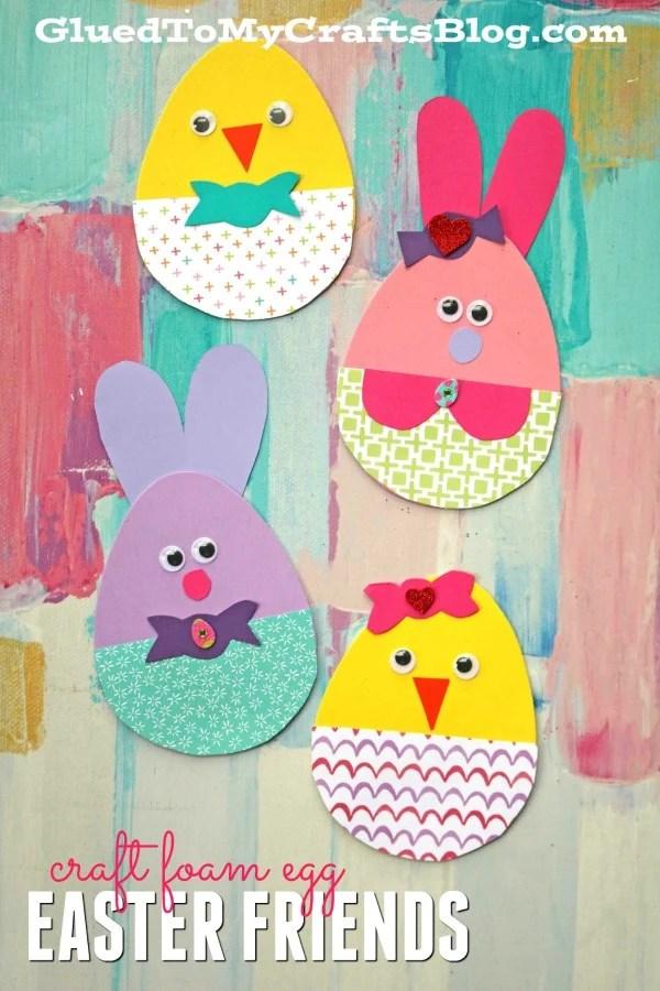 Craft Foam Egg Easter Friends - Kid Craft