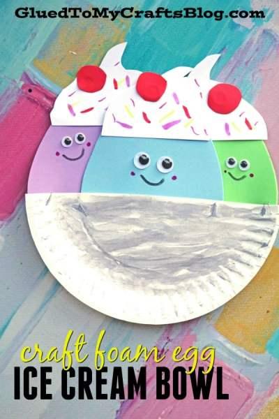 Craft Foam Egg Ice Cream Friends - Kid Craft