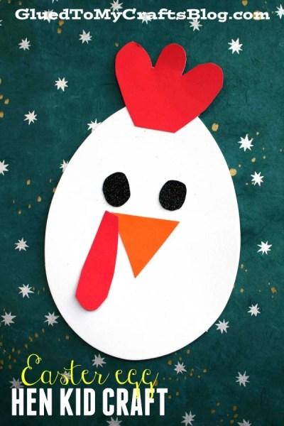 Craft Foam Easter Egg Hen Friend - Kid Craft Idea
