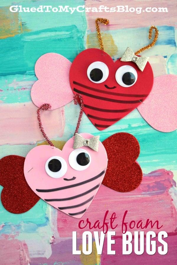 Craft Foam Valentine Love Bug - Kid Craft