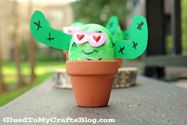 Decorative Craft Egg Cactus Friends