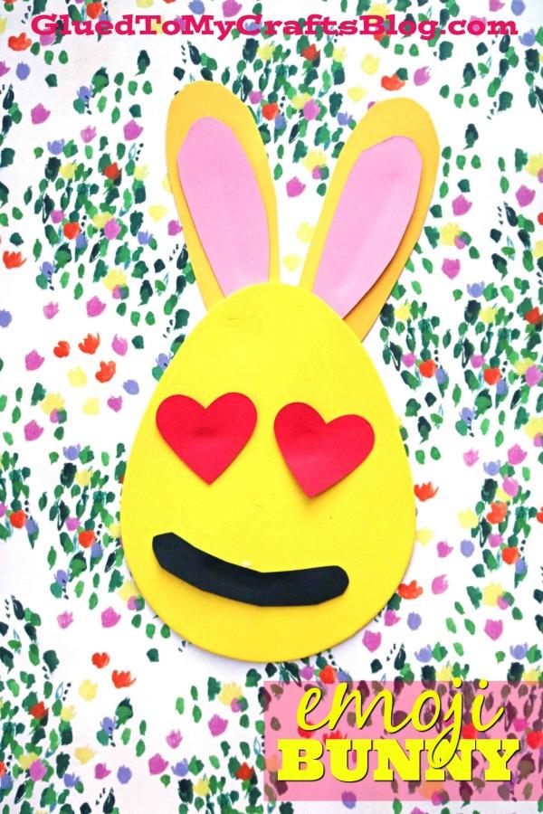 Craft Foam Easter Bunny Emojis - Kid Craft