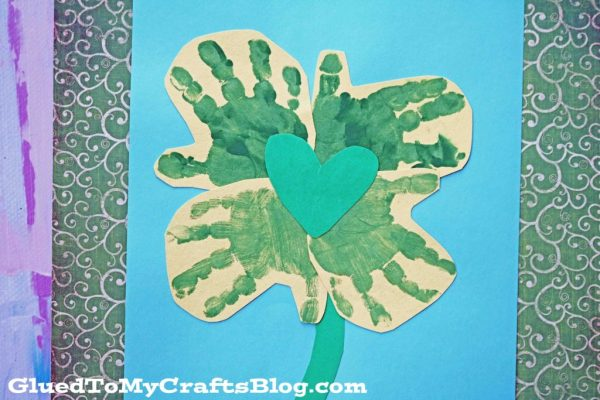 Handprint Shamrock - St. Patrick's Day Kid Craft