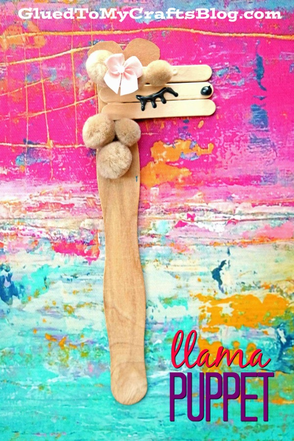 Craft Stick Llama Puppet Kid Craft Idea