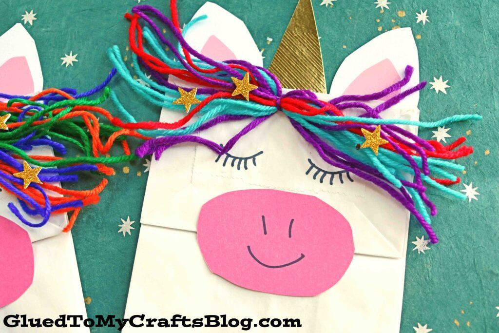 Pretend Play Paper Bag Unicorn Puppet Kid Craft Idea