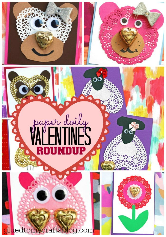 Paper Doily Valentines Roundup Glued To My Crafts