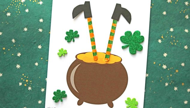 Leprechaun Stuck In A Pot of Gold - Kid Craft