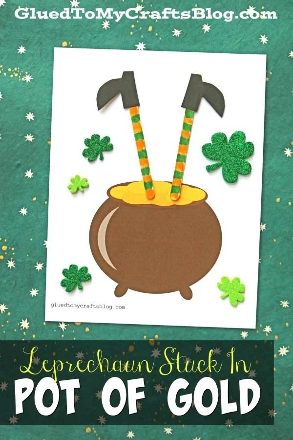 Leprechaun Stuck In A Pot of Gold - Kid Craft