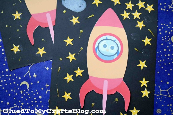 Mixed Media Spaceship Scene - Kid Craft