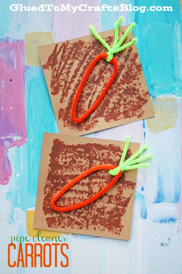 Super Simple Pipe Cleaner Carrots - Kid Craft