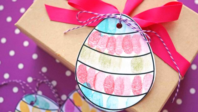 Thumbprint Easter Egg Gift Tags – Free Template